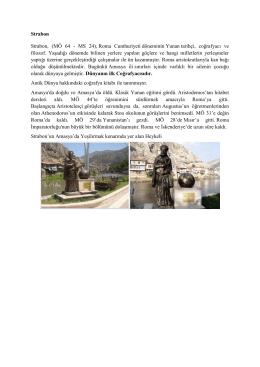 Strabon Strabon, (MÖ 64 - MS 24), Roma Cumhuriyeti döneminin