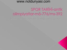 SPOR TARİHİ-antik olimpiyatlar-mö-776/ms-392