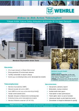 Atıksu ve Atık Arıtım Teknolojileri