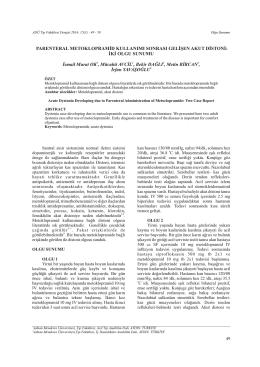 PDF - Adnan Menderes Üniversitesi Tıp Fakültesi Dergisi