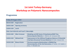 1st Joint Turkey-Germany Workshop on Polymeric Nanocomposites
