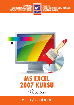 ms excel 2007 kursu - İstanbul Serbest Muhasebeci Mali Müşavirler