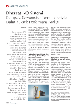 Kompakt Servomotor Terminalleriyle Daha Yüksek Performans Aral›¤›