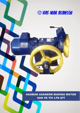 Hasmak130 Makina Broşür - Hasmak Asansör Makine ve Motor