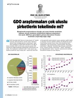 GDO araştırmaları çok uluslu şirketlerin tekelinde mi?