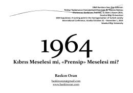 1964 Kıbrıs Meselesi mi