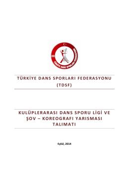 SSD SALSA YARIŞMA TALİMATI 2014-2015 PDF Dosyasını