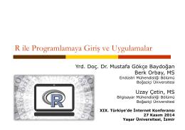 R ile Programlamaya Giriş ve Uygulamalar - Inet-tr