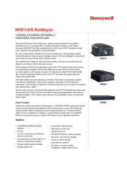 HVE1/4/8 Kodlayıcı - Honeywell Security