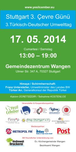 Stuttgart 3. Çevre Günü 13:00 – 19:00