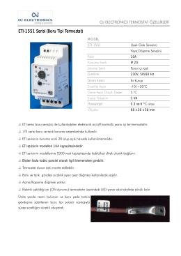 ETI-1551 Serisi (Boru Tipi Termostat)