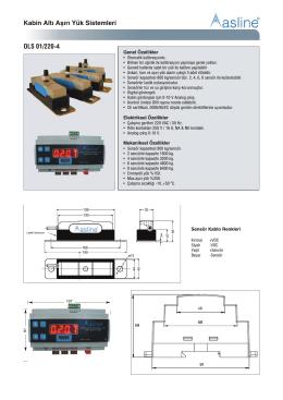 Kabin Altı Aşırı Yük Sistemleri OLS 01/220-4