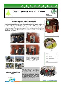 BİLECİK BÜLTEN 2014 İLK YARI - Orman ve Su İşleri Bakanlığı