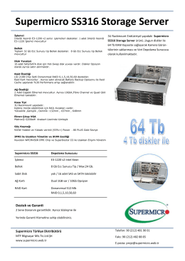 Supermicro SS316 Storage Server