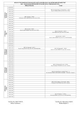 2013 / 2014 bahar dönemi bütünleme programı..