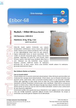 Na2B4O7 – Etibor-68 - Eti Maden İşletmeleri