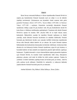 Kırım Savaşı Sonrası Osmanlı Basınında Kafkas ve Kırım Göçleri