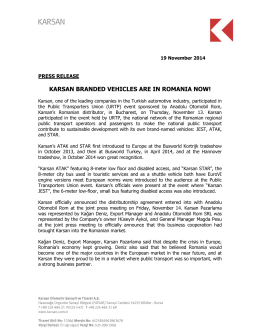 KARSAN BRANDED VEHICLES ARE IN ROMANIA NOW!