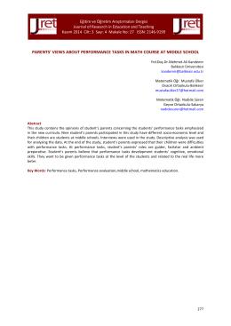 parents - Eğitim ve Öğretim Araştırmaları Dergisi