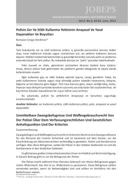 Tam Metin/Full Paper