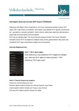 Halk Eğitim Okulunda Ücretsiz WiFi Erişimi (Türkisch) Akıllı