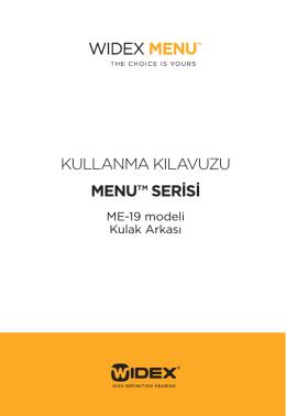kullanma kılavuzu menu™ serisi