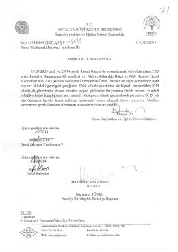 O S /12/2014 - Antalya Belediyesi