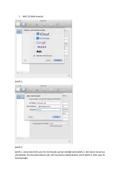 MAC OS Mail Hesabı Ayarları