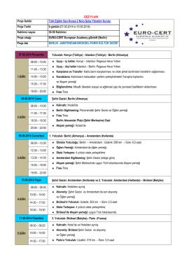 07.08.2014 to 15.08.2014 - Türk Eğitim