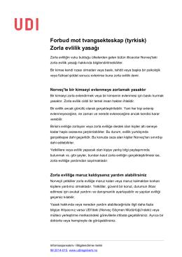 Forbud mot tvangsekteskap (tyrkisk) Zorla evlilik