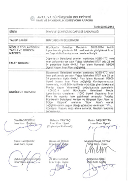 1 - Antalya Belediyesi