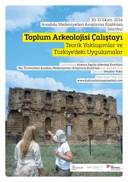Toplum Arkeolojisi Çalıştayı Afişi (Pdf / 527.14K