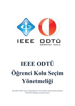 IEEE ODTÜ Öğrenci Kolu Seçim Yönetmeliği
