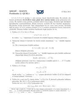 Problemler2+Quiz1