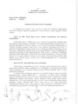 Karar No:298-299 Karar Tarihi:20/05/2014