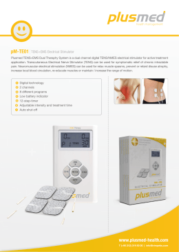 pM-TE01 TENS+EMS Electrical Stimulator