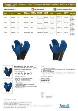 HyFlex® 11-947 / 11-948 / 11-941 / 11-949 (ex