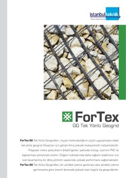 ForTex GG Tek Yönlü Geogridleri, inşaat