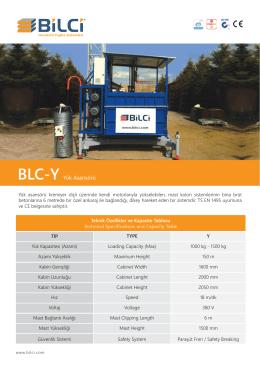 BLC-Y Yük Asansörü