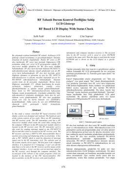 RF Tabanlı Durum Kontrol Özelliğine Sahip LCD