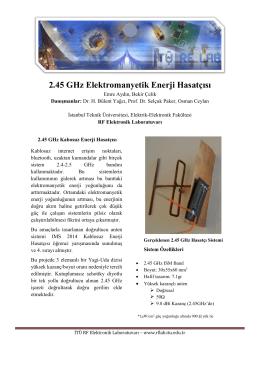 2.45 GHz Elektromanyetik Enerji Hasatçısı - ITU RF Lab
