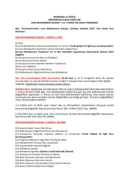 Marmara ve Doğuş Üniversitesi Hukuk Fakültesi Yaz