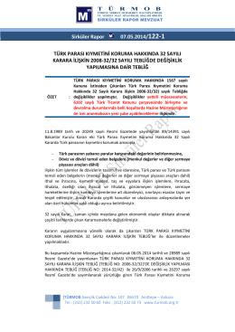 Türk Parası Kıymetini Koruma Hakkında 32 Sayılı Karara İlişkin 2008