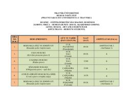 travnik üniversitesi hukuk fakültesi