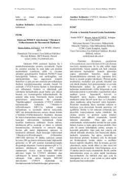 Sitokrom P4502C9 Aktivitesinin 7-Metoksi-4