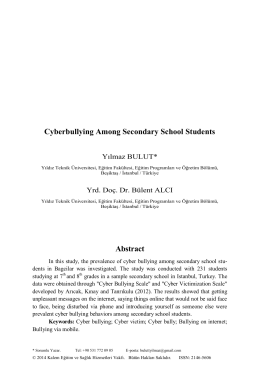 Cyberbullying Among Secondary School Students Abstract