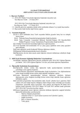 6111 SAYILI AF YASASI - Sağlık Hizmetleri Meslek Yüksekokulu