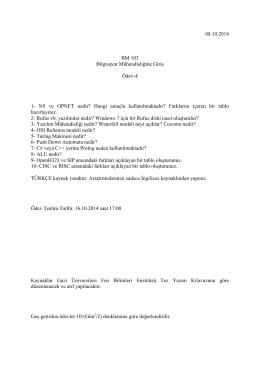 08.10.2014 BM 103 Bilgisayar Mühendisliğine Giriş Ödev-4 1