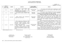 2014 Haziran Ayı - Antalya Emniyet Müdürlüğü
