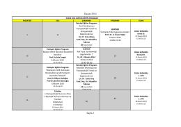 Kasım 2014 Asistan Eğitim Programı
